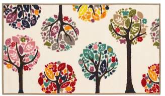 Newcastle Home Jubliee Children's Trees White and Multi Rug