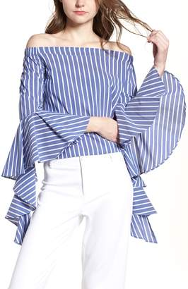 Bishop + Young BISHOP AND YOUNG Gigi Ruffle Sleeve Off the Shoulder Top