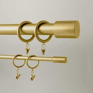 west elm Round Metal Curtain Rings (Set Of 7) - Antique Brass