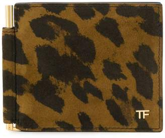 Tom Ford animal print cardholder