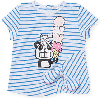 Little Marc Jacobs Panda And Ice Cream Cone T-Shirt