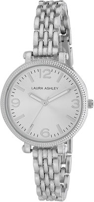 Laura Ashley Ladies Silver Link Bracelet Watch La31006Ss $395 thestylecure.com