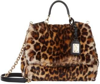 Dolce & Gabbana Medium Sicily Soft Leopard Print Bag