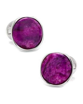 Cufflinks Inc. Sugilite Nebula Sterling Silver Cuff Links