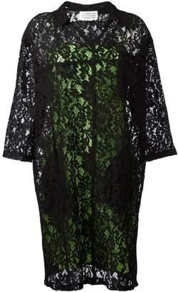 Maison Margiela floral lace shift dress