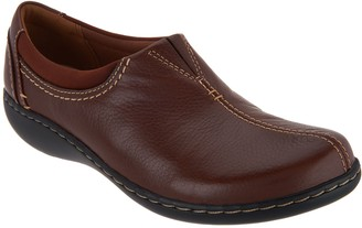 Clarks Leather Slip-On Shoes- Ashland Joy