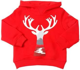 Il Gufo Reindeer Print Cotton Sweatshirt Hoodie