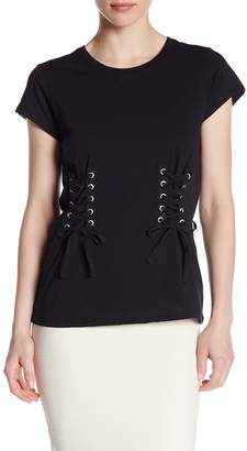 Romeo & Juliet Couture Lace-Up Panel Crew Neck Tee