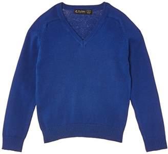 Trutex Girl's Cotton V Neck Jumper,(Manufacturer Size: XX-Large)