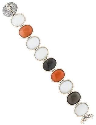 John Hardy Bamboo Diamond Moonstone Bracelet
