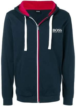 HUGO BOSS logo zipped hoodie