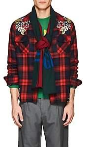 Gucci Men's Logo Wool-Silk Scarf - Green
