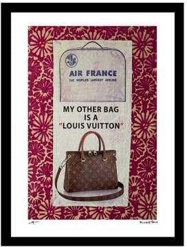 Luxe West My Other Bag In Pink Fairchild Paris Vintage Ad Framed Wall Art
