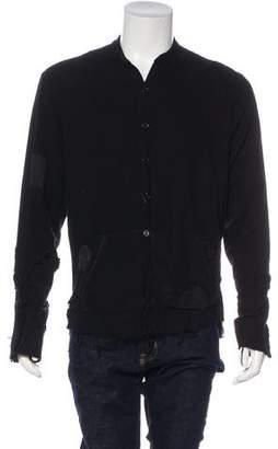 Greg Lauren Flannel Studio Button-Up Cardigan