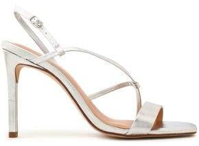 Halston Isla Metallic Leather Sandals