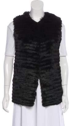 Allude Wool Fur Panel Vest