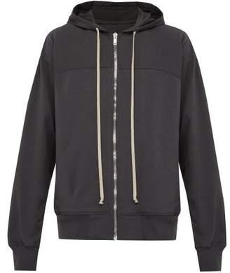 Rick Owens Windbreaker Zip Through Hooded Cotton Sweatshirt - Mens - Grey