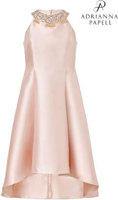 Next Womens Adrianna Papell Pink Mikado Fit And Flare Party Dress