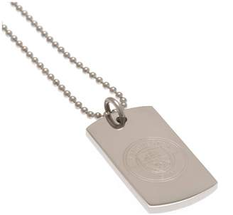 Manchester City Stainless Steel Man City Dogtag and Chain.