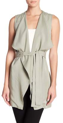 14th & Union Belted Drape Collar Vest