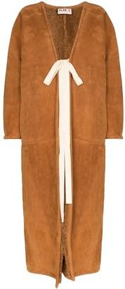 Plan C long shearling-lined coat