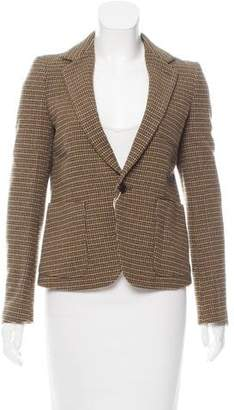 Zucca Plaid Wool Blazer w/ Tags