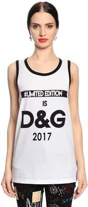 Dolce & Gabbana Dgmillenials Printed Jersey Tank Top