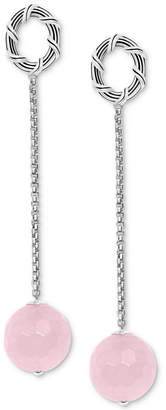 Peter Thomas Roth Rose Quartz Bead Drop Earrings (14 ct. t.w.) in Sterling Silver