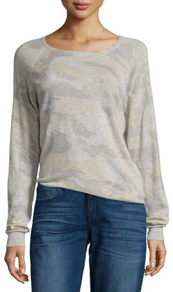 Zadig & Voltaire Camo Cashmere Raglan Sweater, Neige $398 thestylecure.com