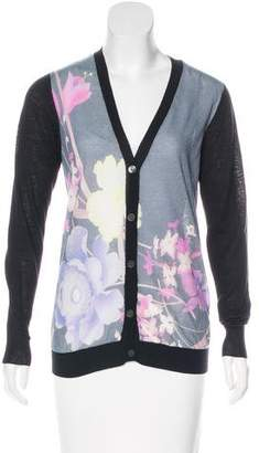 Dries Van Noten Wool & Silk Knit Cardigan
