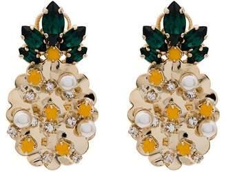 Anton Heunis Swarovski crystal and pearl pineapple earrings