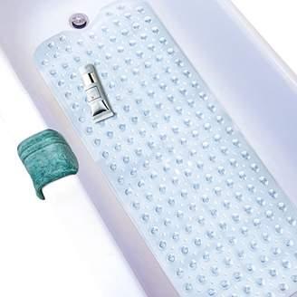 Wimaha Extra Long 39In Bathtub Mats Mildew Resistant Non-slip Bath Mats Machine Washable PVC Shower Mat for Bathroom 39L x 16W