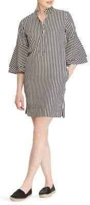 Lauren Ralph Lauren Ruffle-Sleeve Stripe Shift Dress