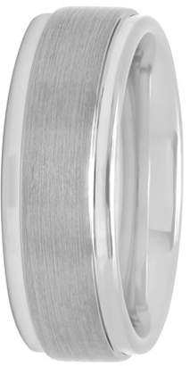 Steel Nation Jewelry Mens Tungsten 8MM Satin and Polished Finish Wedding Band - Mens Ring