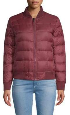 William Rast Full-Zip Puffer Bomber Jacket
