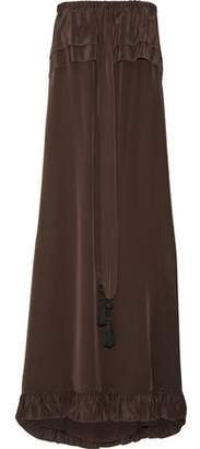 See by Chloe Strapless Ruffle-trimmed Silk-satin Maxi Dress