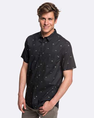 Quiksilver Mens Fuji Mini Motif Short Sleeve Shirt