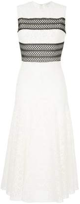 Giambattista Valli contrast panel lace dress