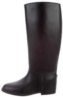 Aigle Leather Knee Boots