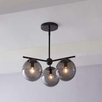 west elm Sphere + Stem 3-Light Chandelier - Bronze