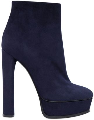 140mm Suede Ankle Boots $950 thestylecure.com