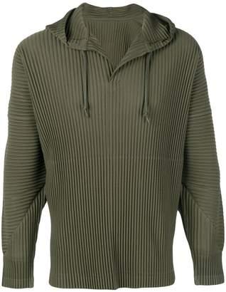 Issey Miyake Homme Plissé plissé hoodie