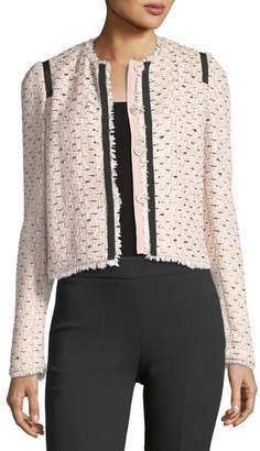 Giambattista Valli Raw-Edge Tweed Jacket