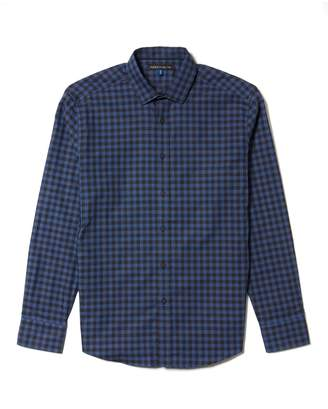 Vince Camuto Mens Dobby-dotted Check Shirt