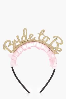 boohoo Eddie Bride To Be Hen Party Headband