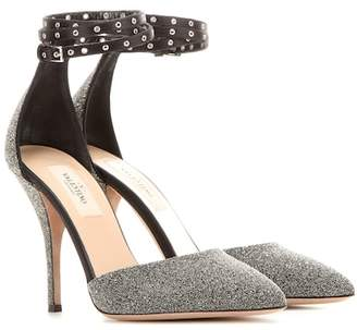Valentino Love Latch crystal fabric pumps