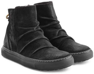 Fiorentini+Baker Suede Sneaker-Style Ankle Boots