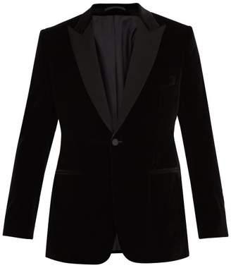 Kilgour Single Breasted Velvet Blazer - Mens - Black