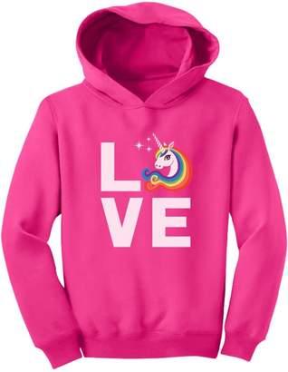 TeeStars I Love Unicorns - Magical Mythical Rainbow Unicorn Gift Toddler Hoodie