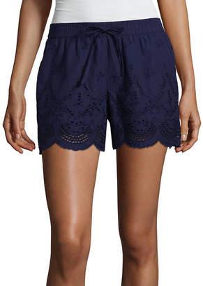 A.N.A Woven Mid Rise Shortie Shorts-Tall